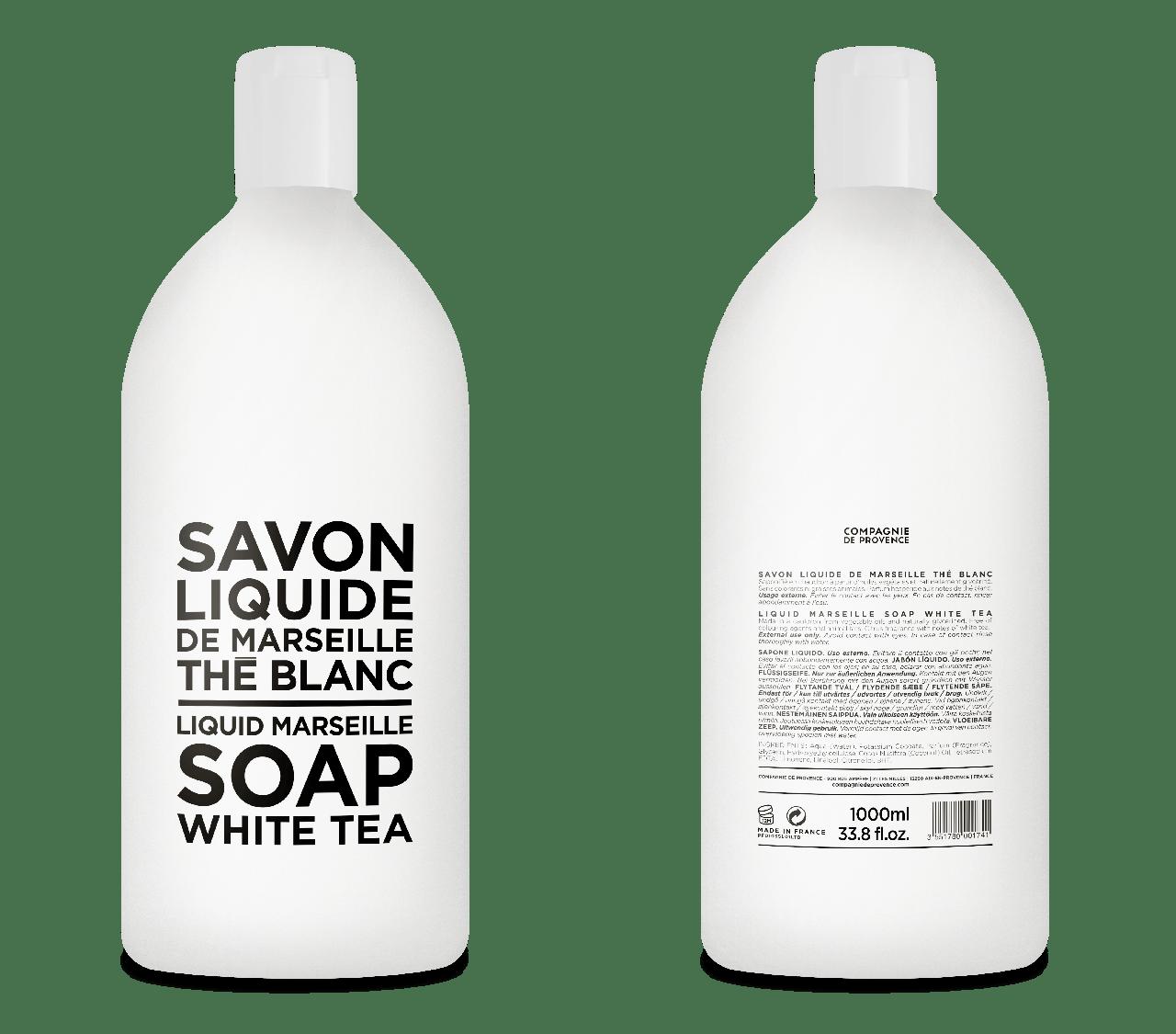 Sapone Liquido di Marsiglia al Tè Bianco Ricarica 1L Compagnie de Provence Italia CPPF0103SL01LTB-01