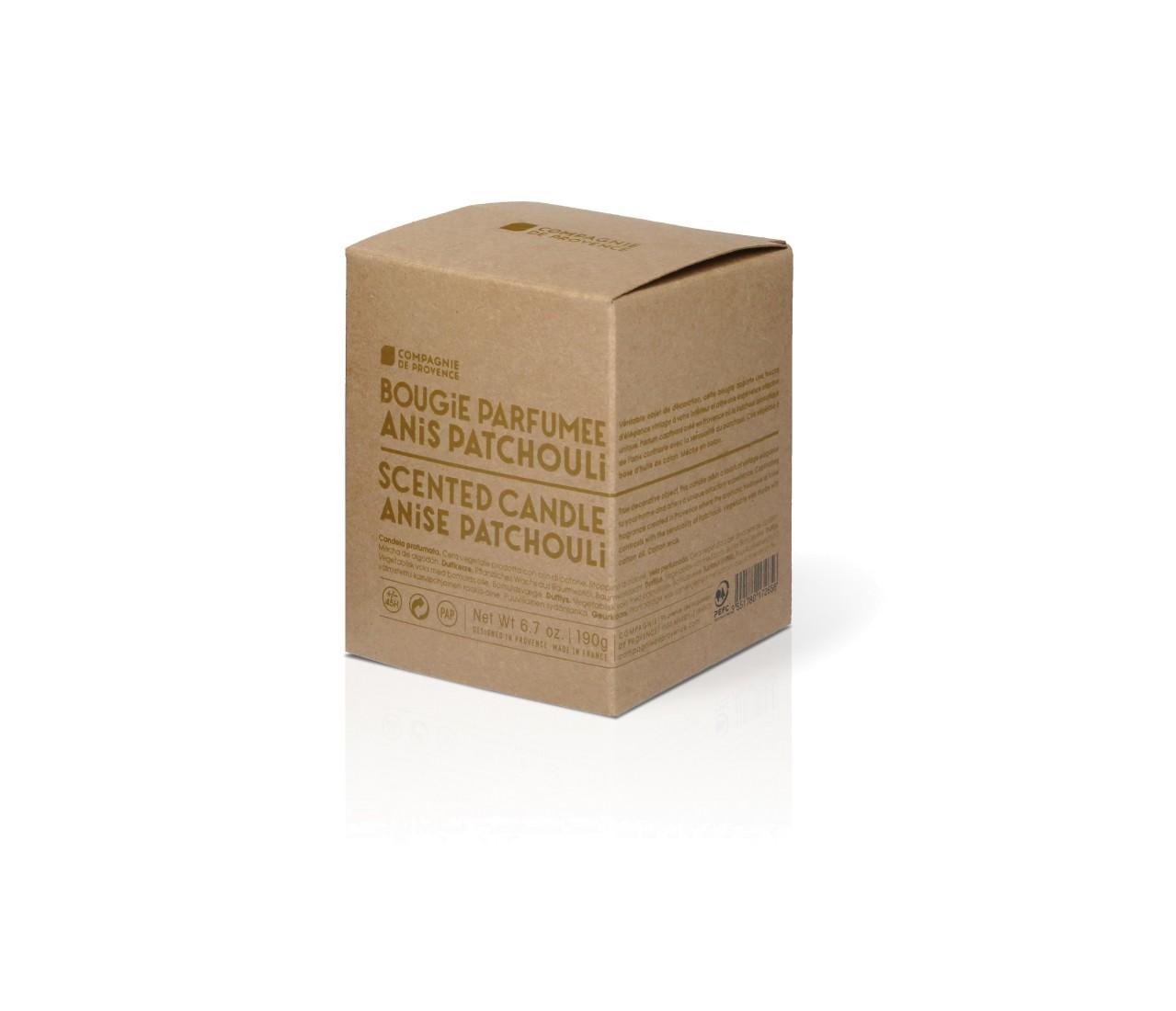 Candela Profumata allAnice e Patchouli 190 g Compagnie de Provence Italia CPPF0102BP190AP-03