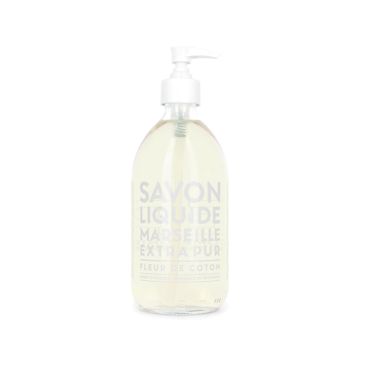 Sapone Liquido di Marsiglia ai Fiori di Cotone 500 ml Compagnie de Provence Italia CPPF0101SL500CO-01