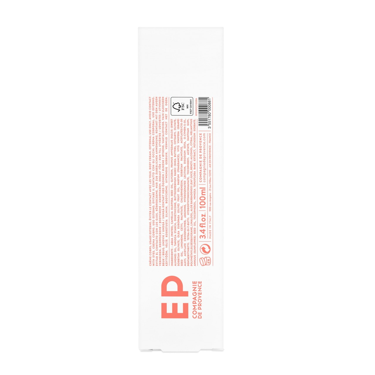 Crema Corpo al Pompelmo 100 ml Compagnie de Provence Italia CPPF0101CC100PA-01