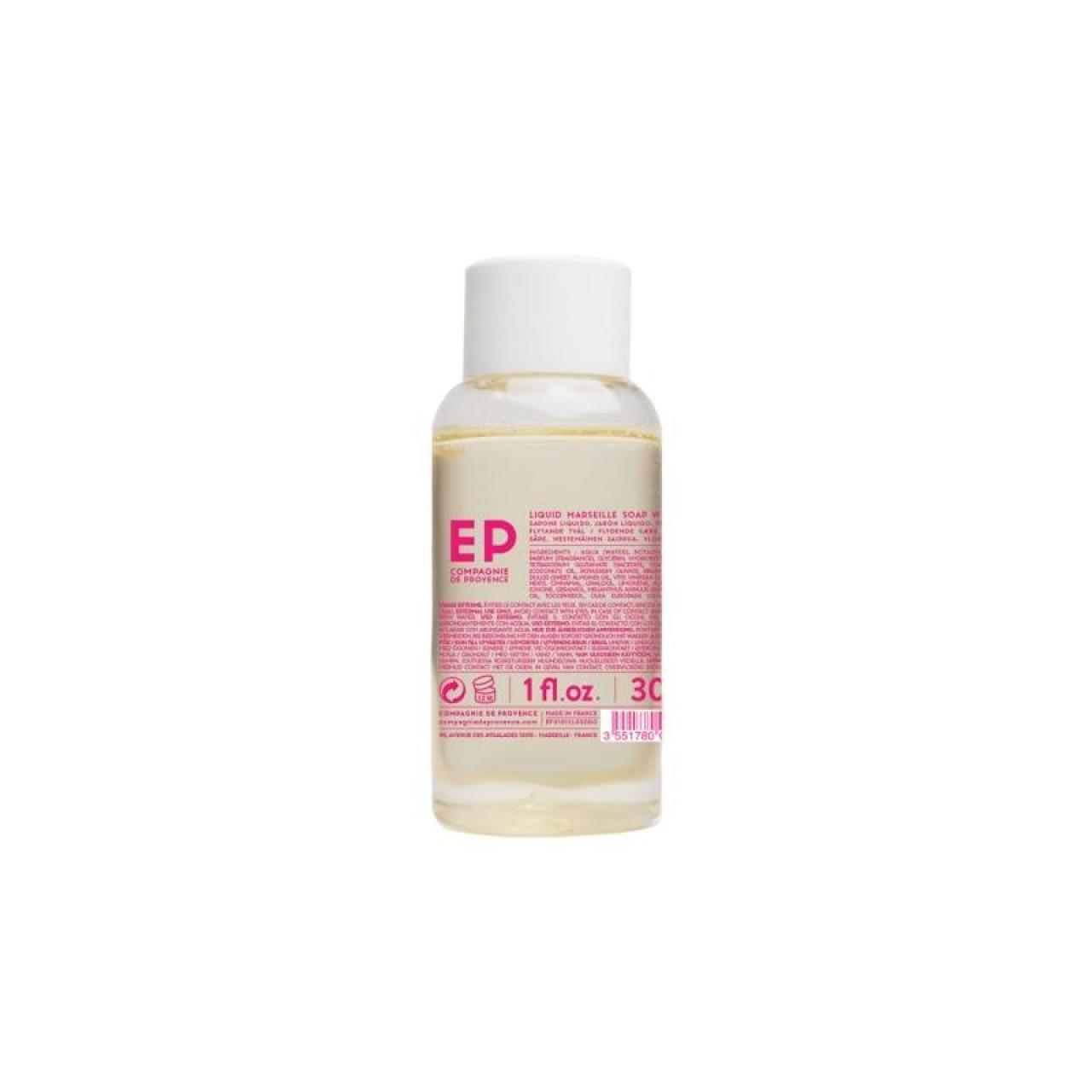 Sapone Liquido di Marsiglia alla Rosa Selvatica 30 ml Compagnie de Provence Italia CPPF0101SL030RO-01
