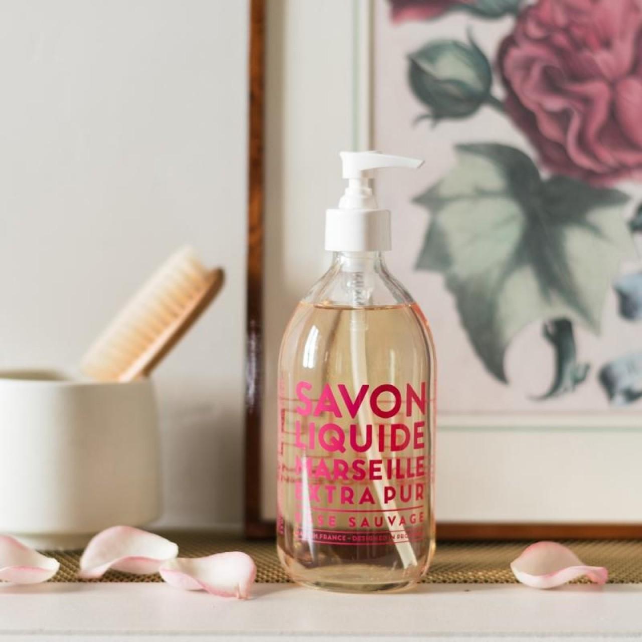Sapone Liquido di Marsiglia alla Rosa Selvatica 500 ml Compagnie de Provence Italia CPPF0101SL500RO-01