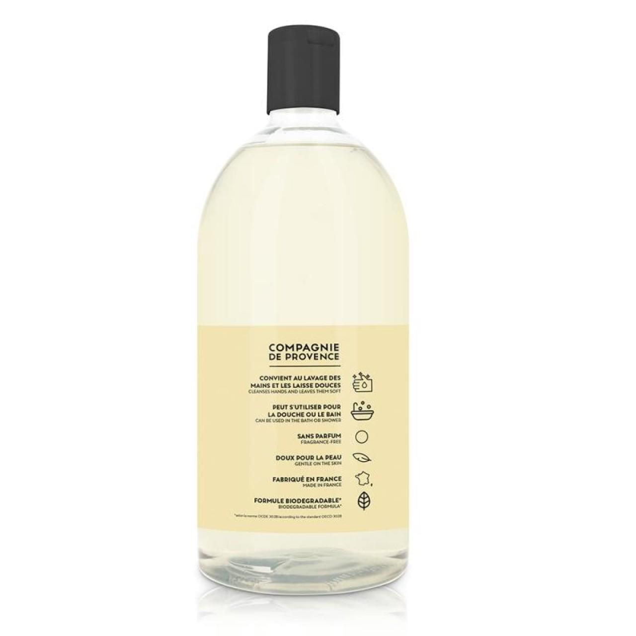 Sapone Liquido di Marsiglia Senza Profumo Ricarica 1L Compagnie de Provence Italia CPPF0106SL01LSA-01
