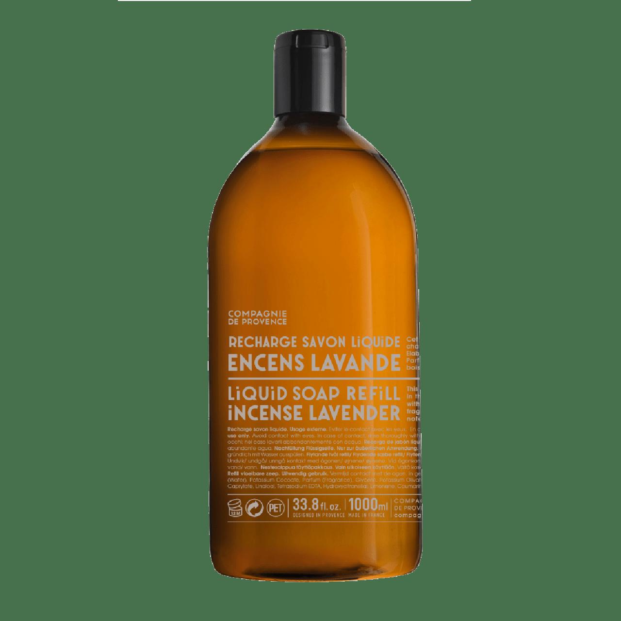 Sapone Liquido di Marsiglia allIncenso alla Lavanda Ricarica 1L Compagnie de Provence Italia CP18261-01