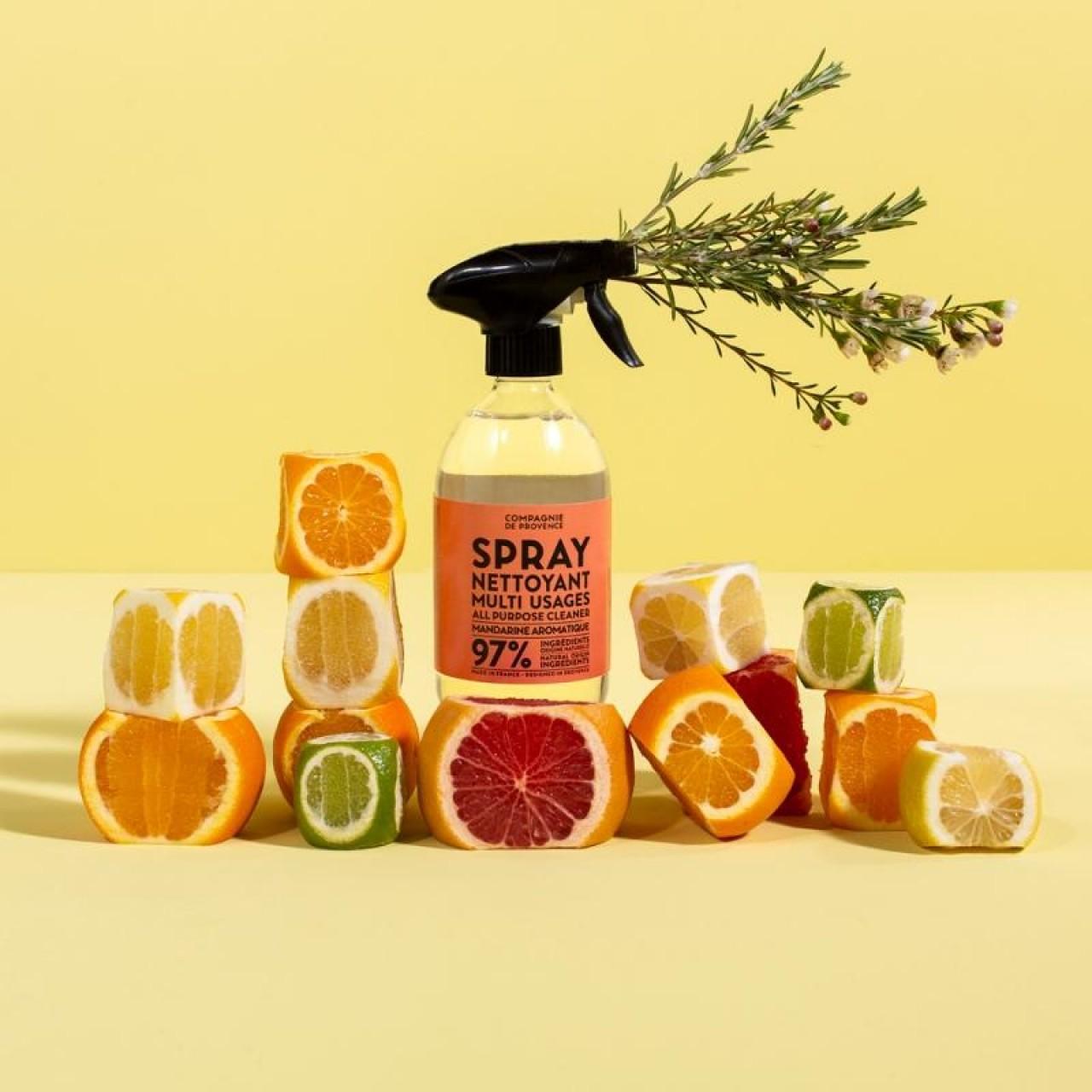Spray Multiuso per la Pulizia al Mandarino Aromatico 500ml Compagnie de Provence Italia CPPF0106SN500MA-01