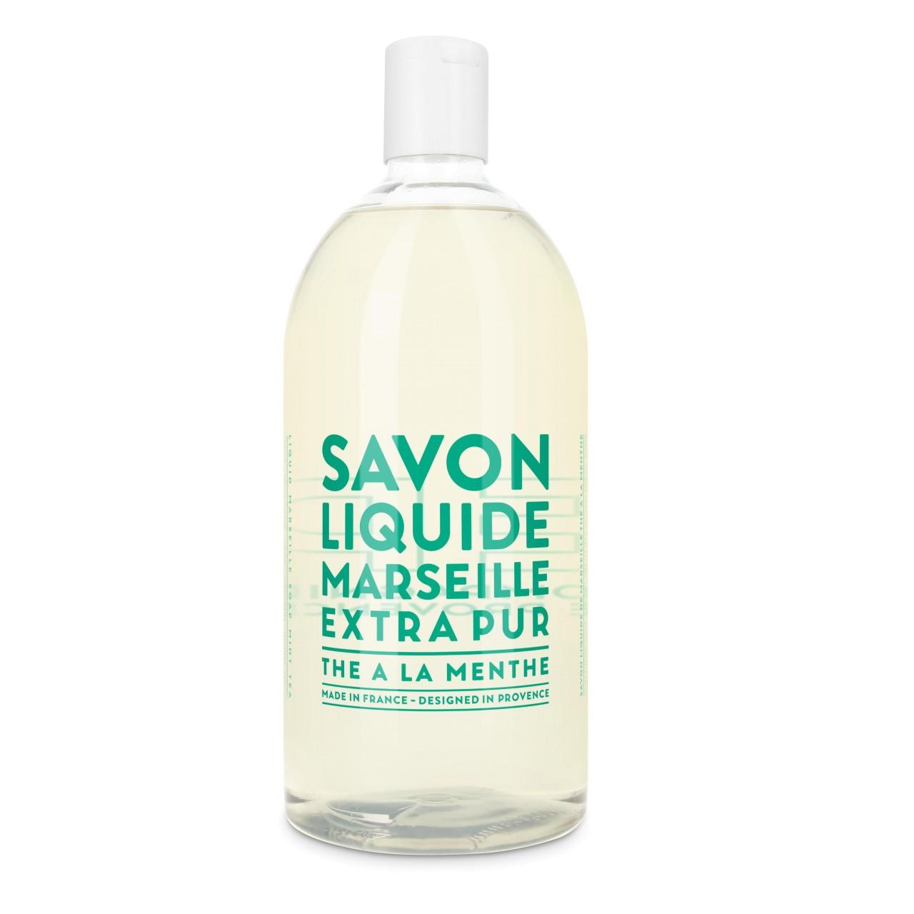 Sapone liquido di Marsiglia al Tè alla menta ricarica 1L Compagnie de Provence Italia CPPF0101SL01LMN-01
