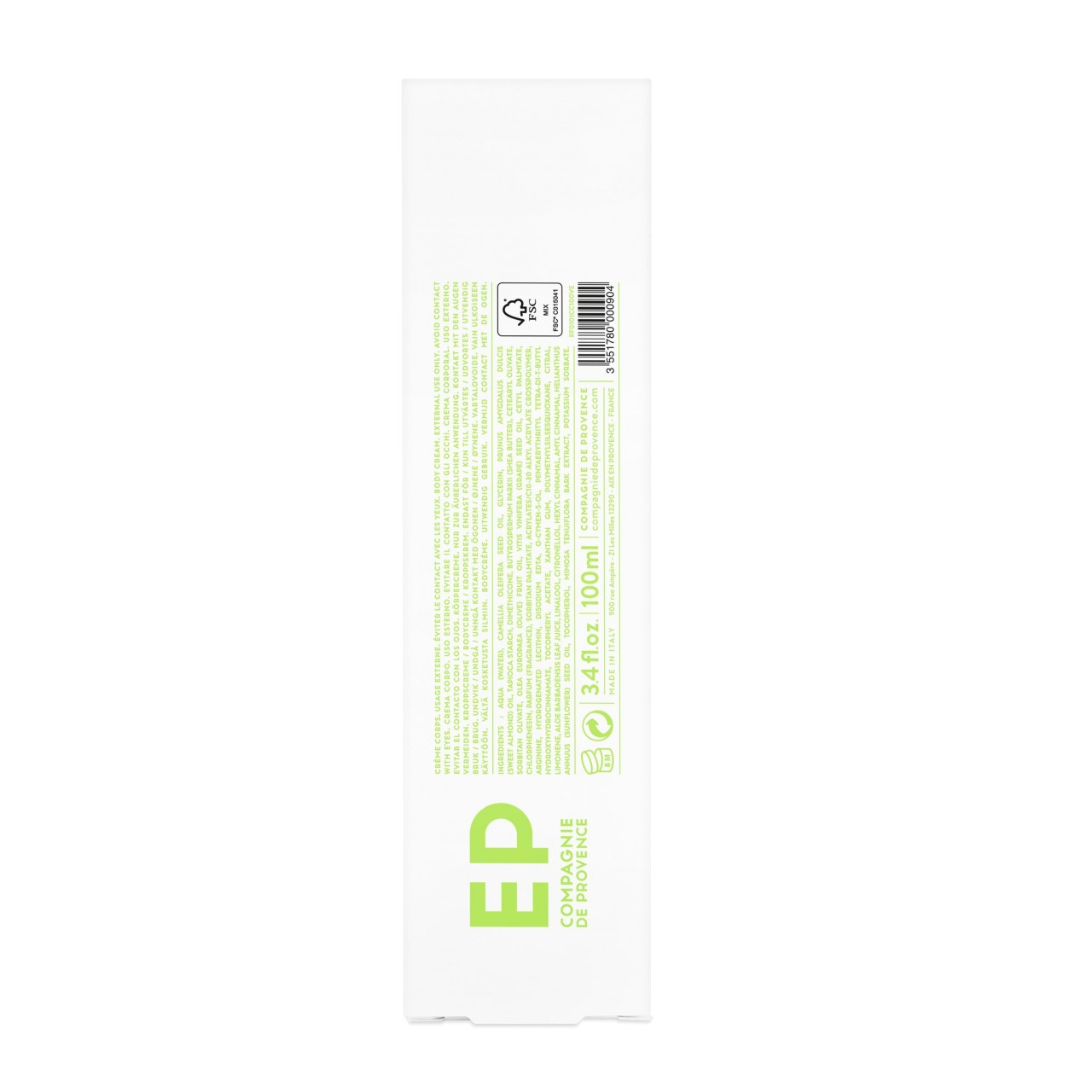 Crema Corpo alla Verbena Fresca 100 ml Compagnie de Provence Italia CPPF0101CC100VE-01