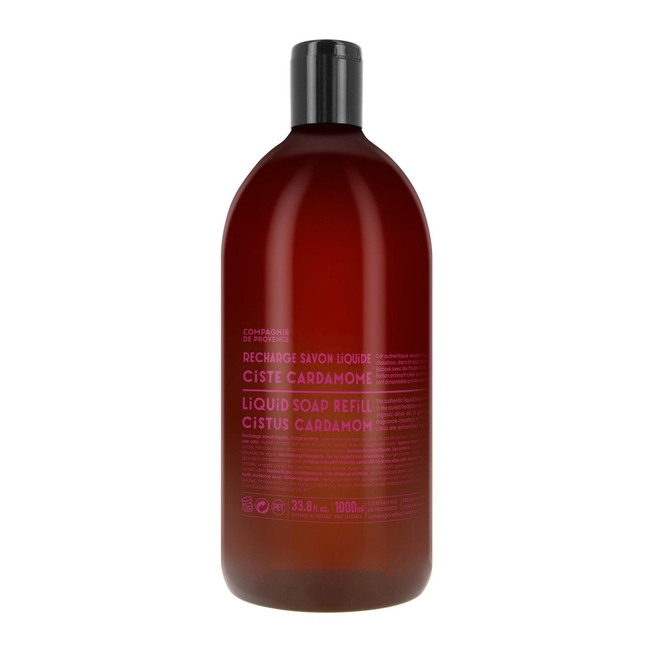 Sapone Liquido di Marsiglia al Cistus Cardamomo Ricarica 1L Compagnie de Provence Italia CPPF0102SL01LCC-01