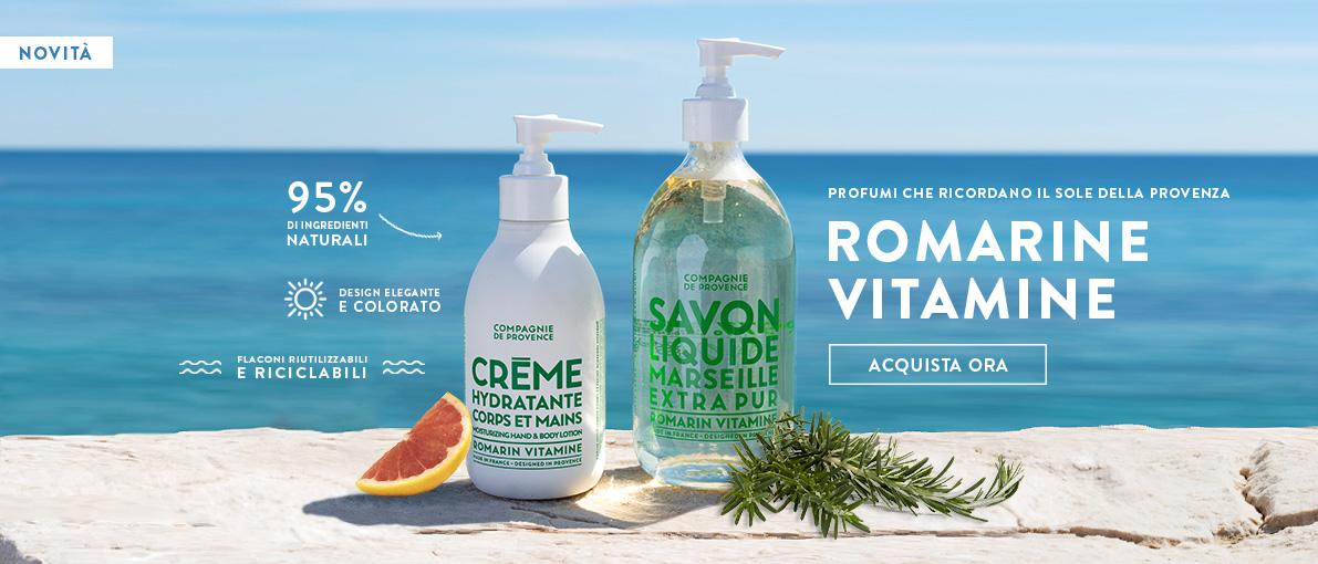 Novità, saponi e creme mani Romarin Vitamine al Rosmarino